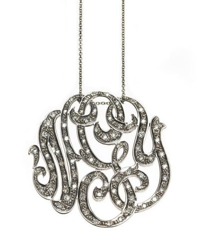 Diamond Monogram Necklace