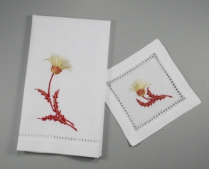 Thistle Cocktail Napkins & Guest Towels