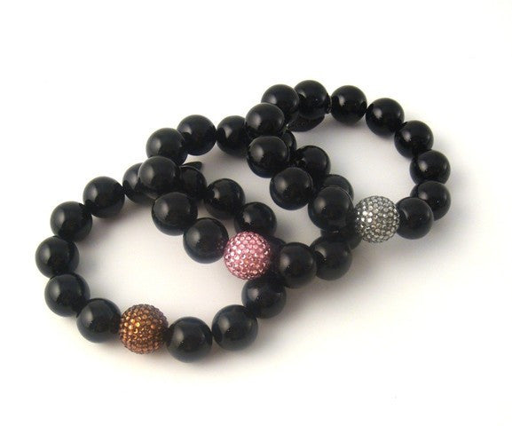 Crystal & Bead Stretch Bracelets