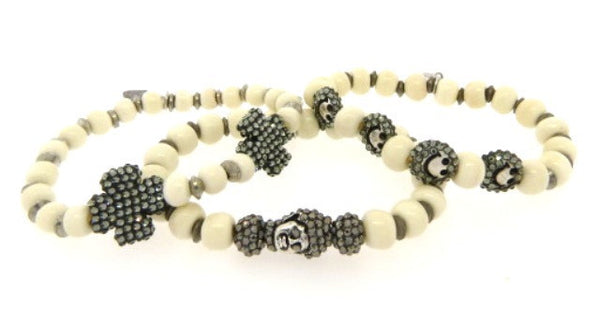 Bone Stretch Bracelets (Small Beads)
