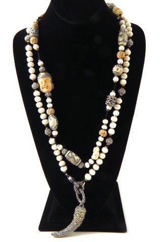 Bone & Crystal Statement Necklaces