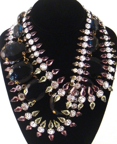 Twisted Triple Strand Statement Necklace