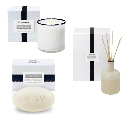 Penthouse: CHAMPAGNE/ Candle, Diffuser & Soap Set
