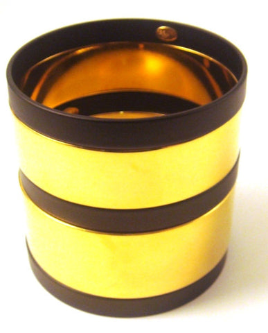 """Paloma"" Black & Gold-Plated Bangles, Set of 5"
