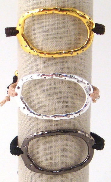 Quartz Hand-Hammered Circle of Life Bracelets