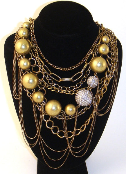 Multi-Chain Fireball Necklace
