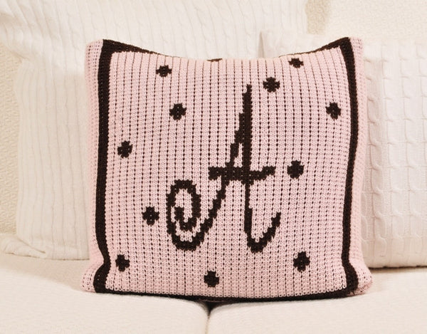 Personalized Pillow with Polka Dots & Border