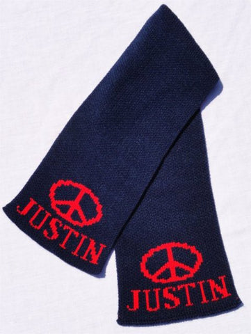 Peace Sign Personalized Scarf (Children's)