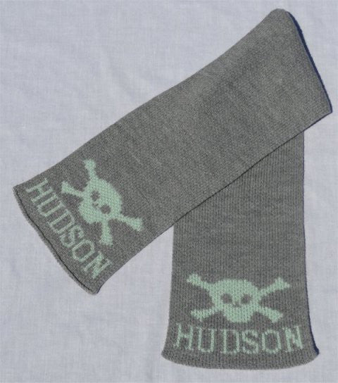 Skull & Crossbone Personalized Scarf (Children's)