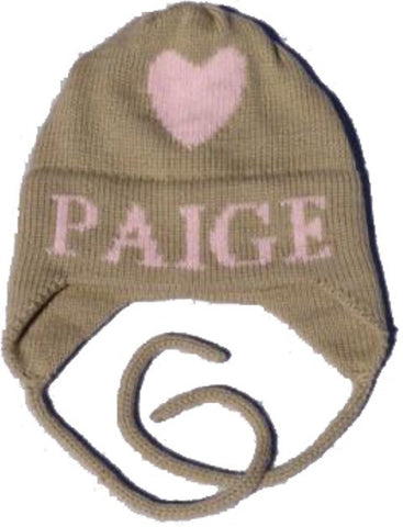 Heart Personalized Hat with Earflaps