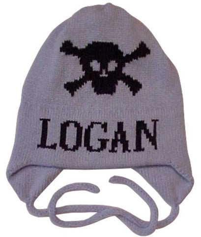 Skull & Crossbone Personalized Hat with Earflaps