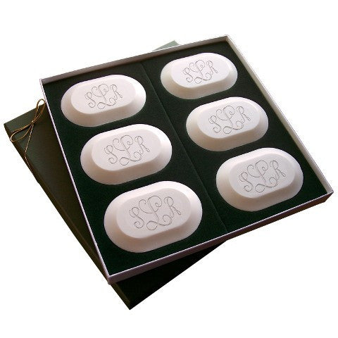 """Classic"" Monogrammed Soap Set, 6 Bars"