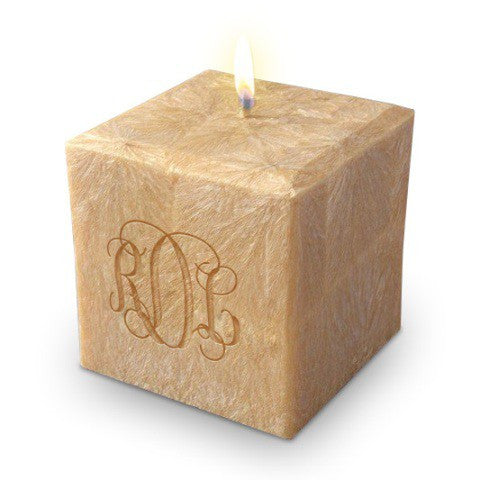 "Monogrammed Candle, 4"" Square"