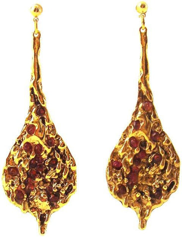Zahav Earrings, Garnet