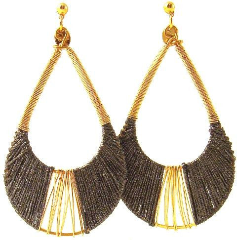 Joss Earrings, Earl Gray