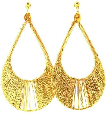 Joss Earrings, Golden Thread