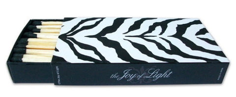 Zebra Matchboxes (Black), Set of 2