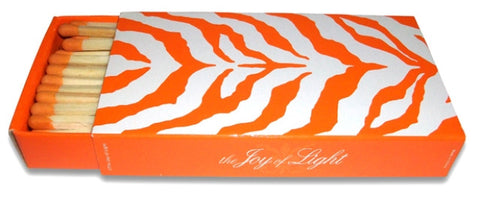 Zebra Matchboxes (Orange), Set of 2