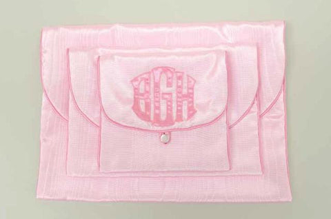 Monogrammed Lingerie Cases, Set of 3