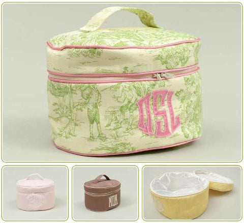 Monogrammed Oval Train Case