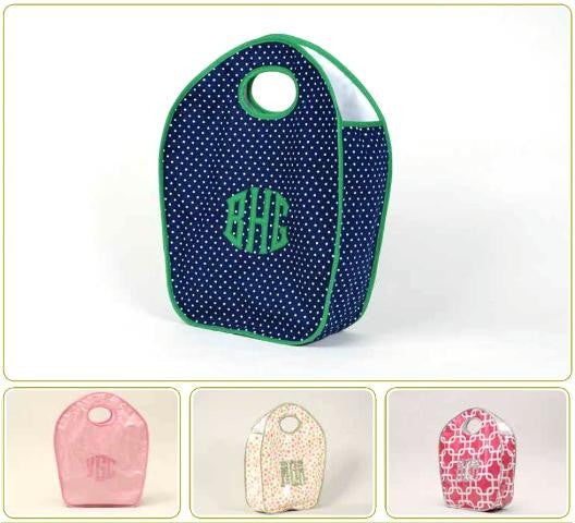 Monogrammed Keyhole Diaper Tote