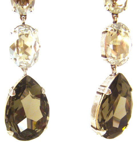 """Black Diamond"" & Crystal Earrings"