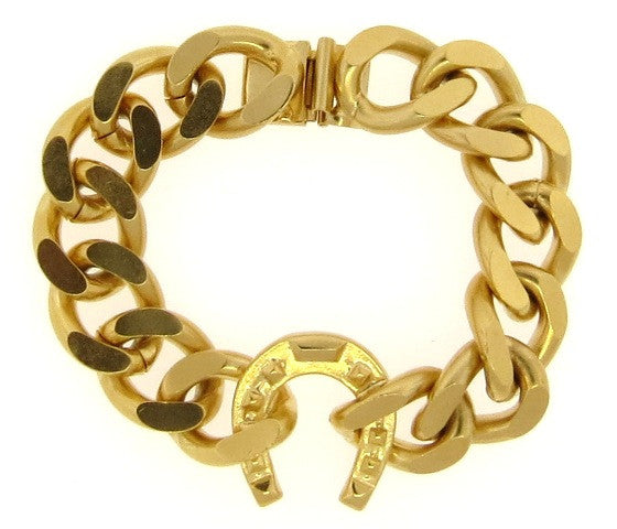 Horseshoe & Golden Chain Link Bracelet