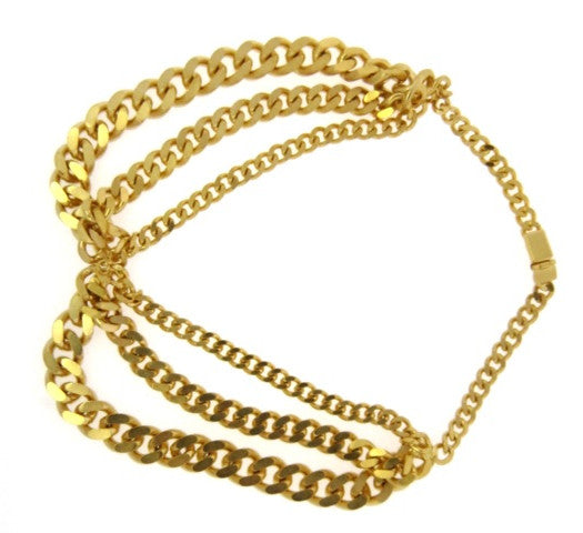 Twist Chain Link Golden Necklace