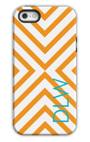 Personalized Cell Phone Case, Chevron Pattern