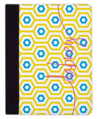 Personalized iPad & Laptop Cases, Happy Hexagon Pattern