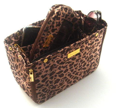 Leopard Purse Organizer & Cosmetic Bag Set