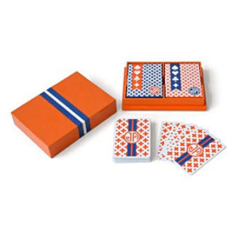 Lacquer Box Playing Card Set, Orange