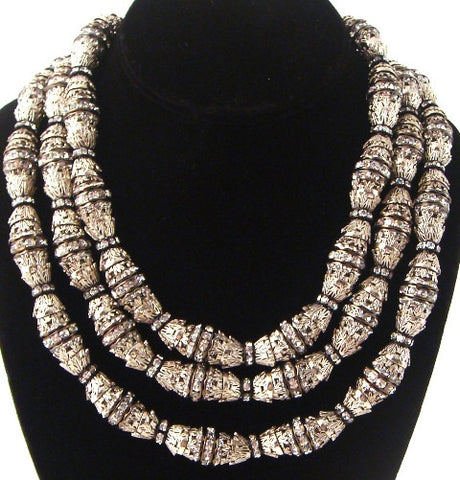 """Shannon"" Triple Strand Necklace"