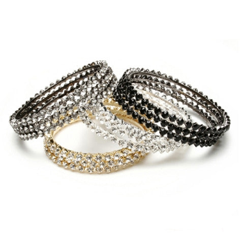 Crystal Bangles, Set of 3