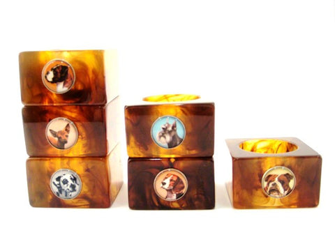 Dog Napkin Rings