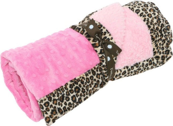 Animal Instinct Snuggler: Cheetah & Bubble Gum/Pink