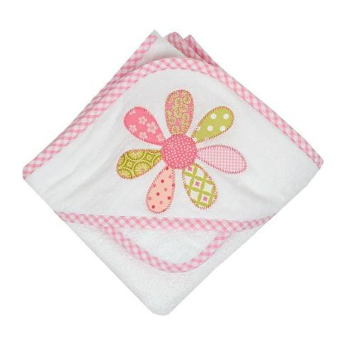 """Funky Flower"" Hooded Towel & Washcloth Set"