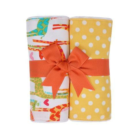Jolly Giraffe Burp Pads, Set of 2
