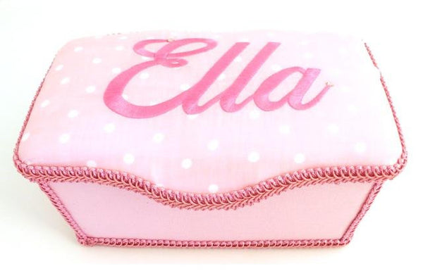 Personalized Baby Wipe Case, Dots (Nursery Size)