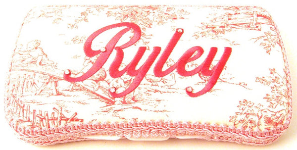 Personalized Baby Wipe Case, Pink Toile (Travel Size)