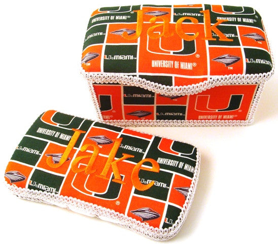 Personalized Baby Wipe Case Set, University of Miami