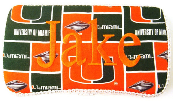 Personalized Baby Wipe Case, University of Miami (Travel Size)