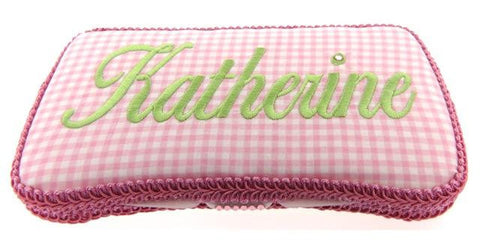 Personalized Baby Wipe Case, Preppy Gingham (Travel Size)