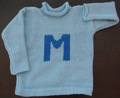 Personalized Letter Sweater (Children's)