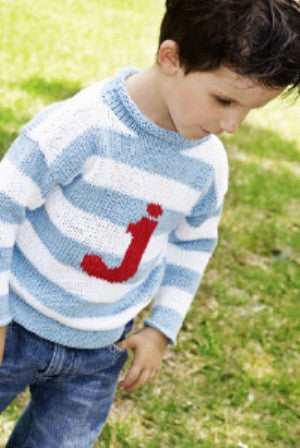 Personalized Stripe Letter Sweater (Children s) · MJK KNITS 7b3c9cfd9b1