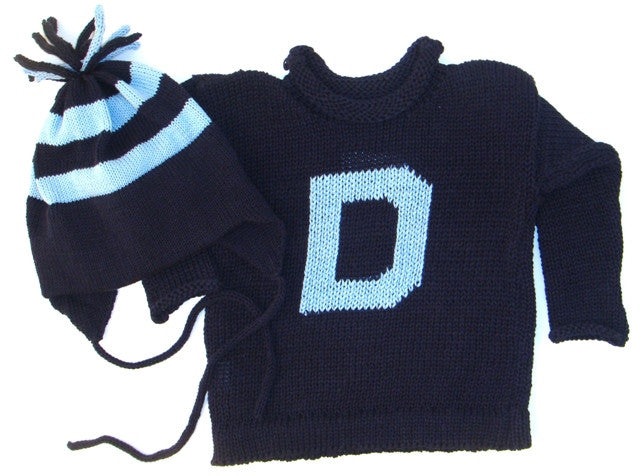 Personalized Letter Sweater   Earflap Hat Set – Linea Luxe 056ed7feb43