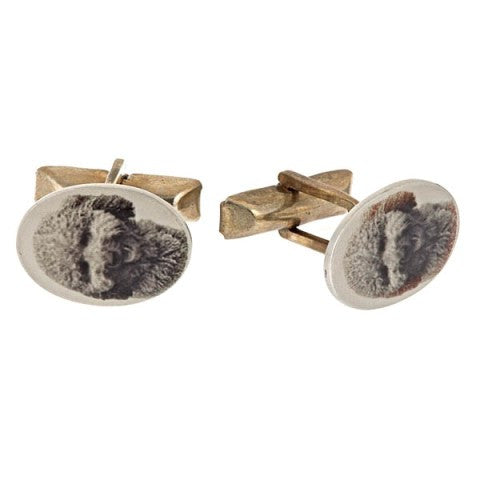 "Personalized ""Photo"" Cufflinks, Sterling Silver"