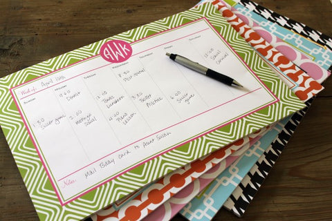 Personalized Desk Planner (Monogram)
