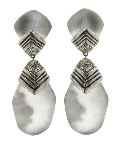 """O'Keeffe"" Antique Silver Drop Earrings"