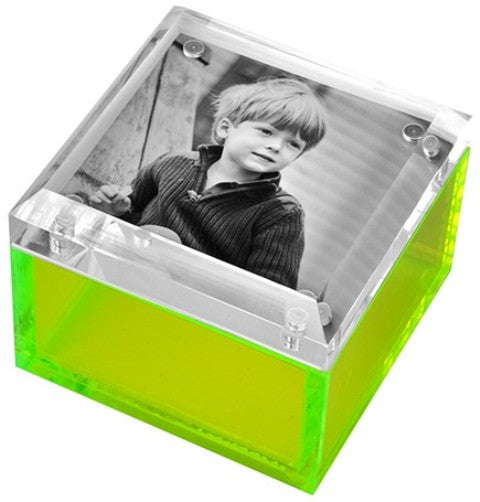 Photo Lucite Box, Neon Green (Small)